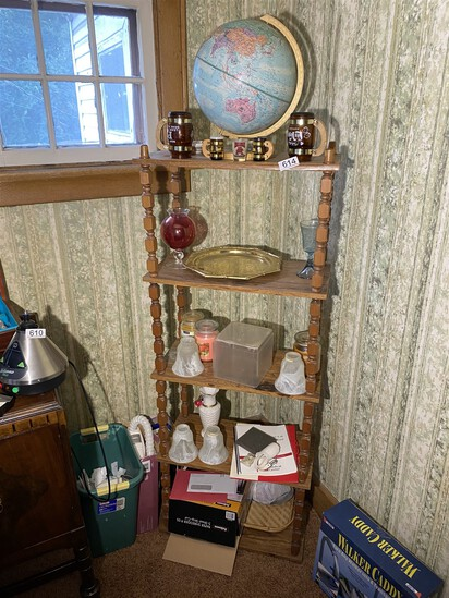 Vintage shelf and contents