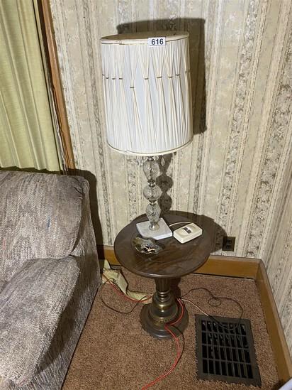 Vintage Mid Century Lamp PLUS Table