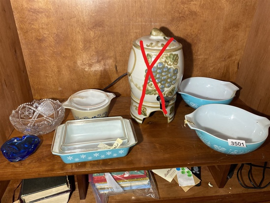 Group of Pyrex wares and more