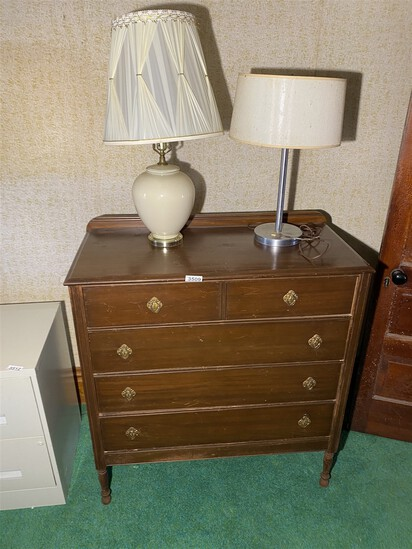 Vintage dresser and two lamps