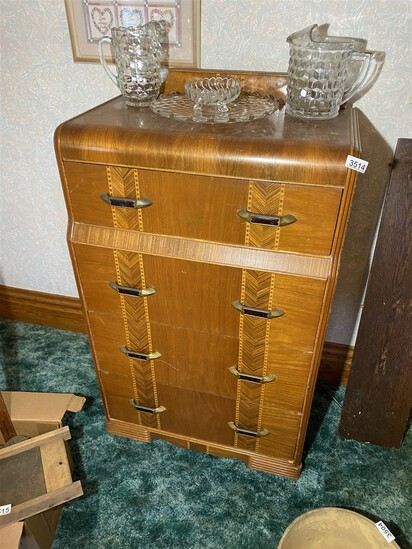 Antique Waterfall Dresser Art Deco