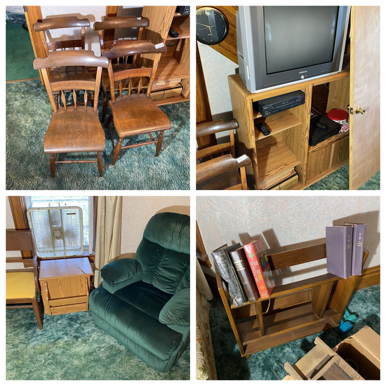 Group lot of assorted vintage furniture