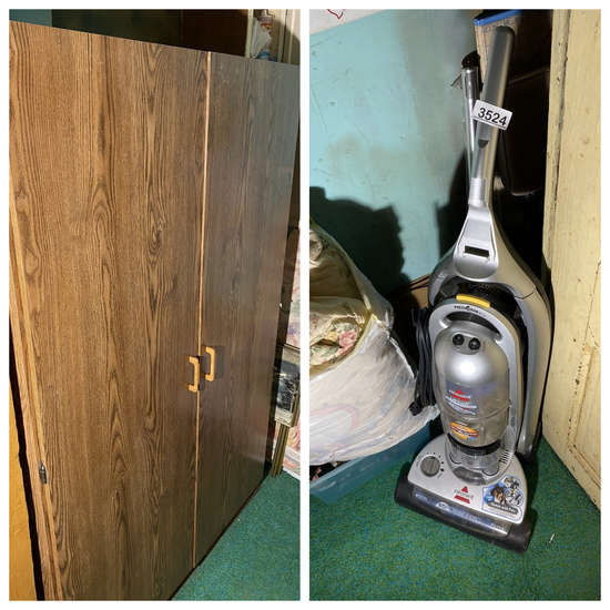 Cabinet, vacuum cleaner lot etc lot