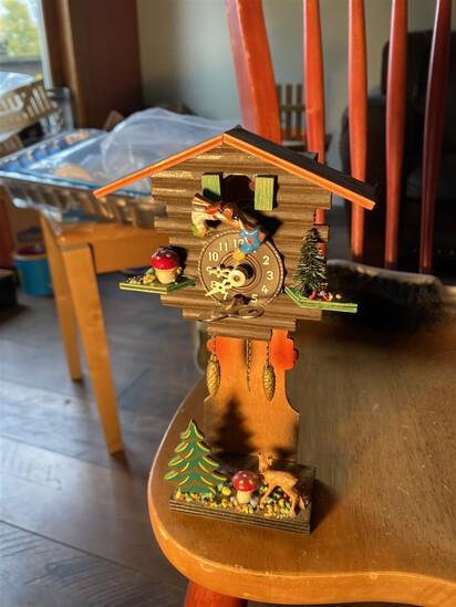Unusual Miniature German Cuckoo Clock