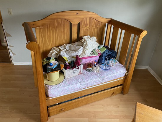 Vintage Wooden Baby Day Bed