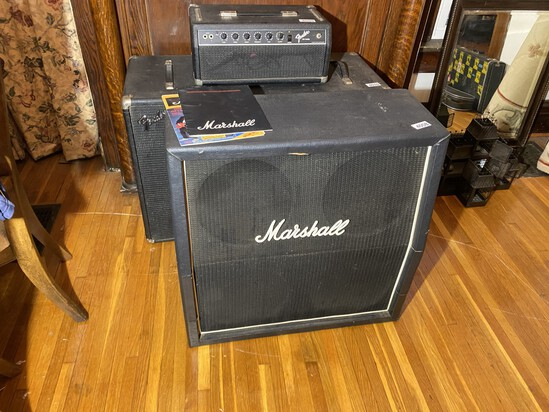 Vintage Large Sized Marshall Speaker Cabinet