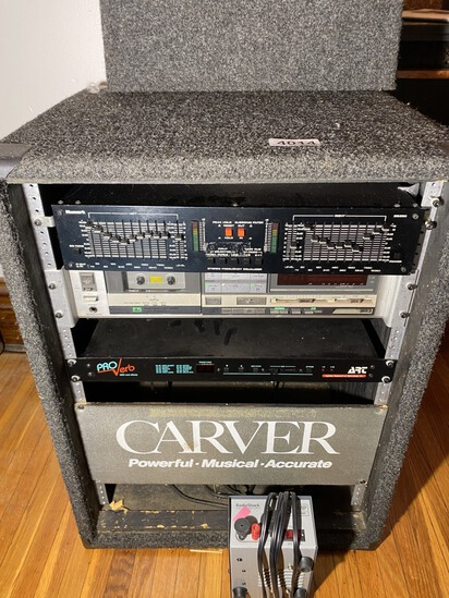 Vintage rack case with Music Components