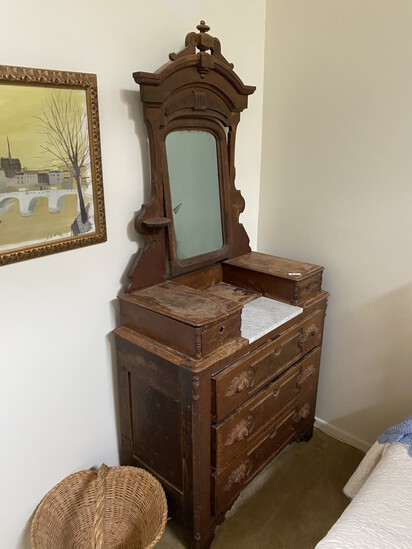 Victorian or Eastlake Dresser with Mirror