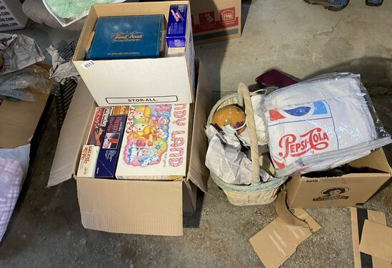 Group lot of vintage games and more