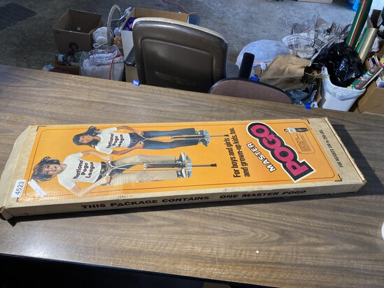 Vintage Pogo Stick in Box