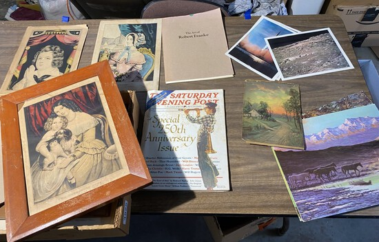 Group of vintage and antique paper