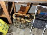 Wine rack, stool, magazine rack, cradle