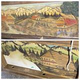 2 Vintage Carved, Painted Wood Diorama Scenes