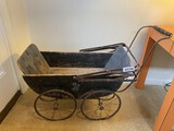 Nice ANtique Painted Baby Buggy