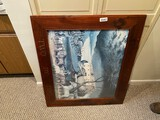 Framed Edward Hicks Two by Two Print