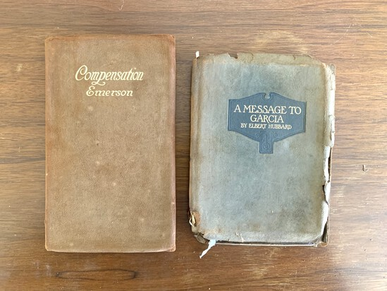 2 Leather Bound Books