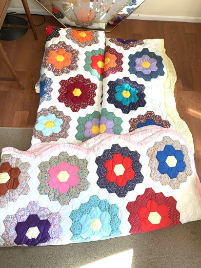 3 Beautiful Hand Stitched Quilts