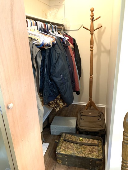 Clean out of Master Closet - Coats, Luggage  & Coat Rack
