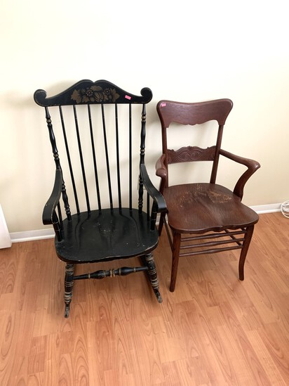 Kling Concord Rocking Chair & Wooden Chair