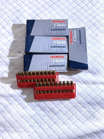 4 boxes of Federal Classic 223 Ammunition 63 GR. Hi-Shok