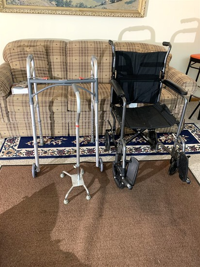 Wheel Chair, Walker, & Cane