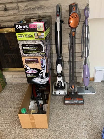 3 Shark Cleaning Appliances - Scrubber, Vacuum, & Mop