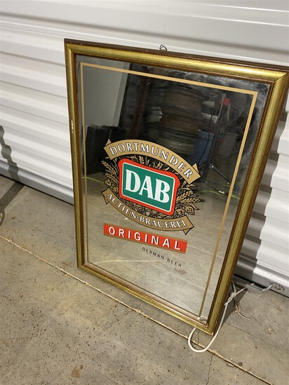 Vintage DAB Dortmunder Beer Mirror Advertising