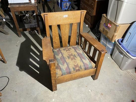 Antique Mission Style Armchair