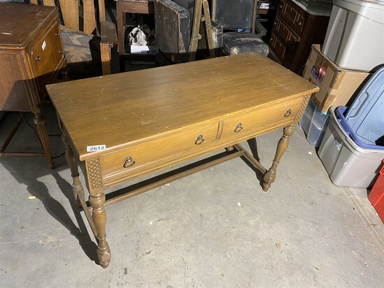 Vintage couch table with drawers