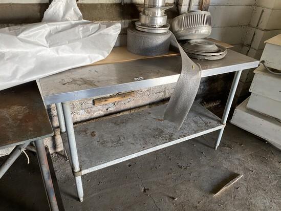 Stainless Steel Metal Prep Table