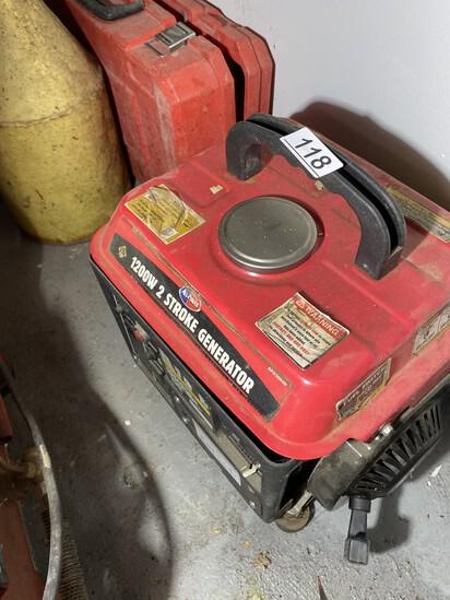 Small 1200 watt 2 stroke generator