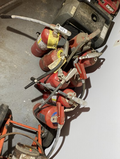 Group lot of fire extinguishers