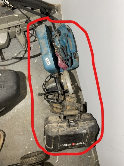 Group lot of electric tools