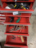Contents of 4 Drawers Including - Pliers, Electrical, Hammers, Files & More