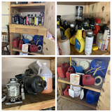 Clean out of Garage Cabinet - Gas Can, Torpedo Heater, Neiko Buffer & More