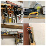 Bar Clamps, Level, Pool Cue, Contents of Shelf