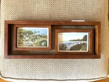 2 Framed Vintage Postcards of Indian Lake