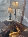 Side Table and 2 Lamps