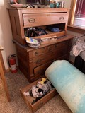 Double Antique Dresser (drawers need reglued)