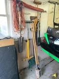 Assortment of Yard Tools, Ax, Extension Cord, Yard Spreader & More