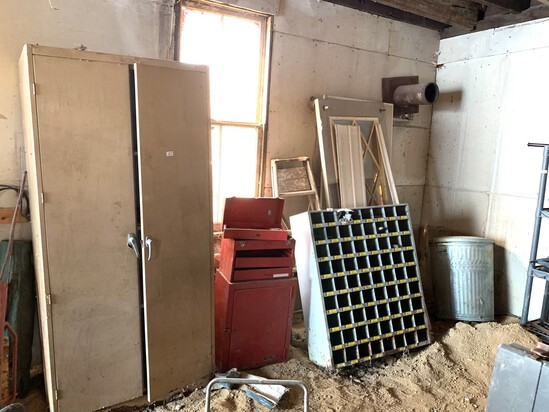Tool Box, Organizer, Metal Trash Can & More