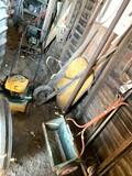 Yard - Man Mower, Wheel Barrel & Seeder