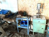 Metal Cabinet, Duracraft Drill Press, Wrenches, Files & More