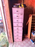 Metal Cabinet with Contents - Sandpaper, Tools, Clamps, Machinist Tools & More