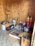Christmas Items, Blow Forms, Tins, Metal Chairs & More