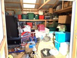 Shed Clean Out - HUGE! Lot of Holiday Items, Clothing, Glassware & More