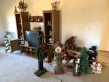 Family Room Clean Out - Wood Tv Stand, Holiday Items, DVD's, Sofa & More