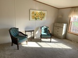 Two Side Chairs, Half Round Table, & Dresser