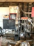 Metal Cabinet, 3 Metal Shelves, Tool Box & More