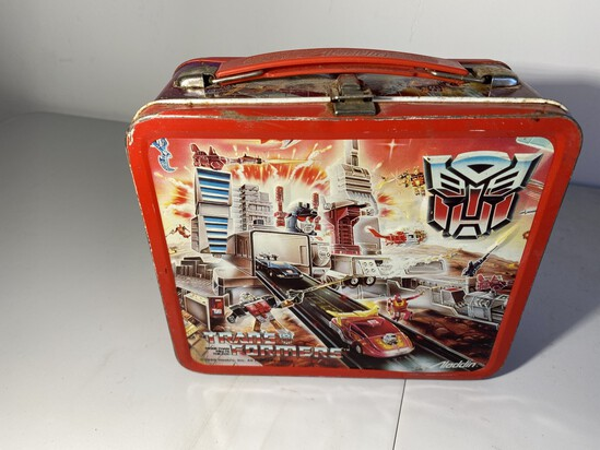 Vintage Aladdin Metal Lunch Box: Transformers by Hasbro